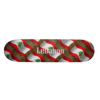 Lebanon Waving Flag Skateboard Deck