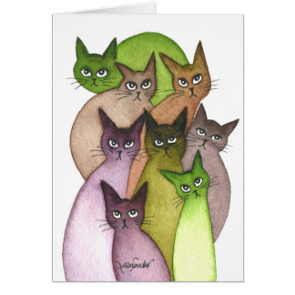 Lebanon Whimsical Cats Card