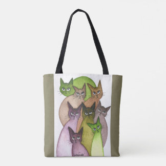 Lebanon Whimsical Cats Tote Bag