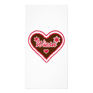 Lebkuchen heart Wiesn Customized Photo Card
