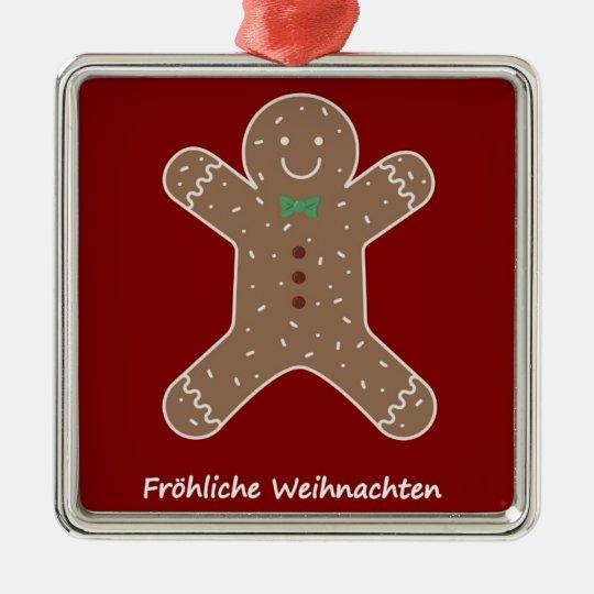 Lebkuchenmann Fröhliche Weihnachten Christmas Ornament