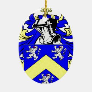 LeBlanc Coat of Arms Ceramic Oval Decoration
