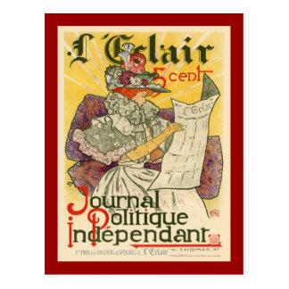 L'Eclair Journal Politique Independent Postcard