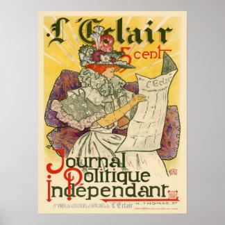 L'Eclair Journal Politique Independent Poster