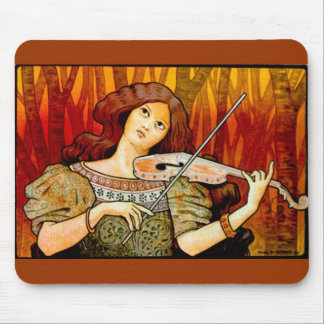 Lecons Music Violin Vintage Poster Mouse Mat