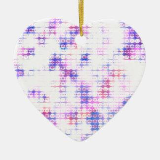 LED Glow Print Ceramic Heart Decoration
