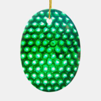 LED-green-lights948 DISCO BALL GREEN NEON LIGHTS F Ornament