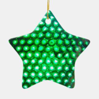 LED-green-lights948 DISCO BALL GREEN NEON LIGHTS F Christmas Ornament