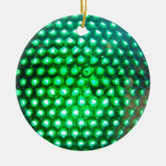 LED-green-lights948 DISCO BALL GREEN NEON LIGHTS F Christmas Tree Ornament