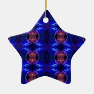 LED Wave Double-Sided Star Ceramic Christmas Ornament