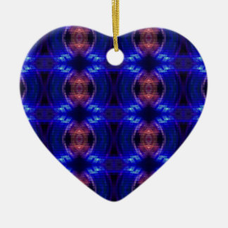 LED Wave Double-Sided Heart Ceramic Christmas Ornament