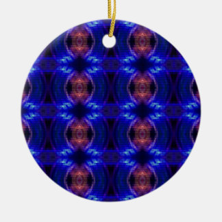 LED Wave Double-Sided Ceramic Round Christmas Ornament