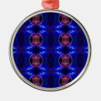 LED Wave Silver-Colored Round Decoration