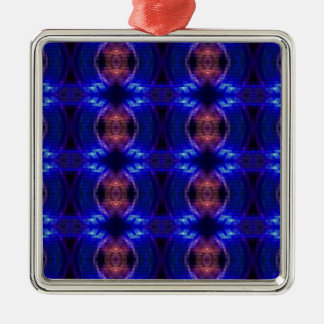 LED Wave Silver-Colored Square Decoration
