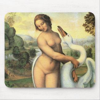 Leda and the Swan by Leonardo da Vinci Mouse Pad