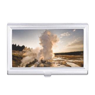 Ledge Geyser, Norris Geyser Basin Business Card Holder