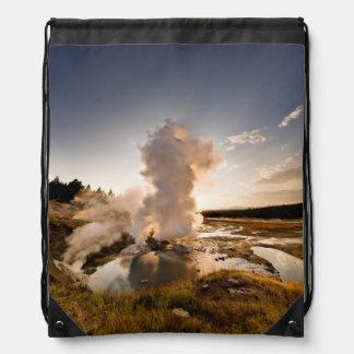 Ledge Geyser, Norris Geyser Basin Drawstring Bag