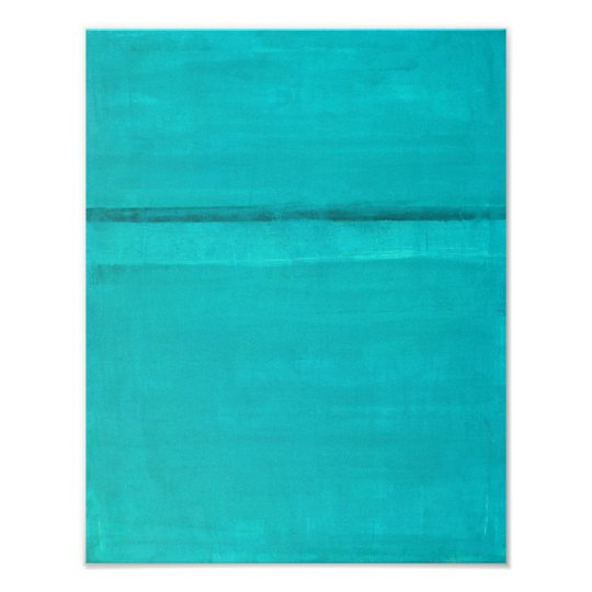 'Ledge' Turquoise Abstract Art Painting Poster