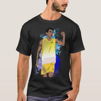 Lee Chong Wei Black Cartoon - Badminton T-Shirt