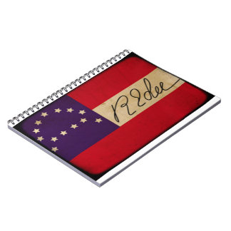 Lee Headquarters Flag with Signature Spiral Notebook