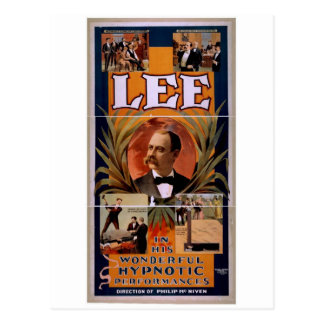 Lee, 'Hypnotic Performances' Retro Theater Postcard