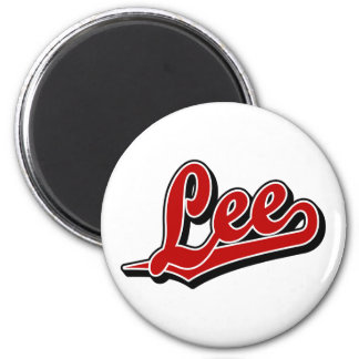 Lee in Red 6 Cm Round Magnet