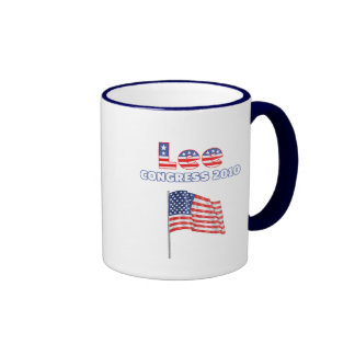 Lee Patriotic American Flag 2010 Elections Coffee Mugs