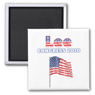Lee Patriotic American Flag 2010 Elections Square Magnet