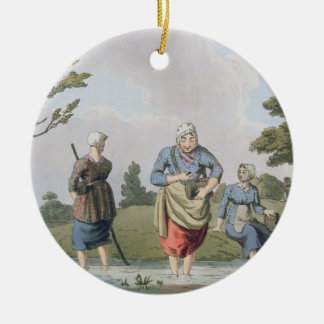 Leech Finders, from `Costume of Yorkshire' engrave Christmas Ornament