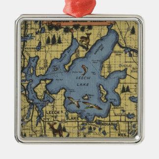 Leech Lake Area, Minnesota - Large Letter Scenes Christmas Ornament
