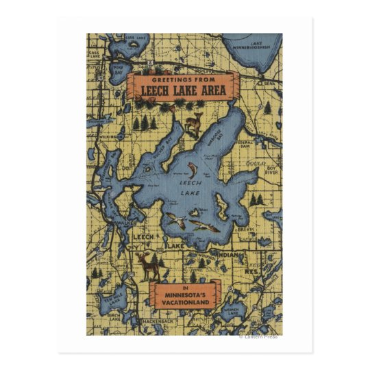 Leech Lake Area, Minnesota - Large Letter Scenes
