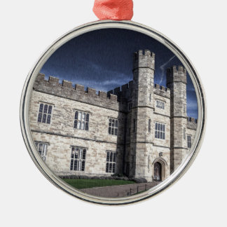 Leeds castle at night christmas ornament