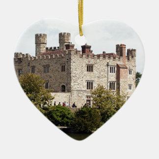 Leeds Castle, England, United Kingdom Ceramic Heart Decoration