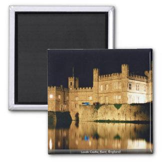 Leeds Castle, Kent, England Square Magnet