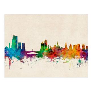 Leeds England Skyline Postcard