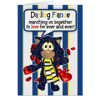Leeds Fan Valentine's Day Card Fiance With Cat