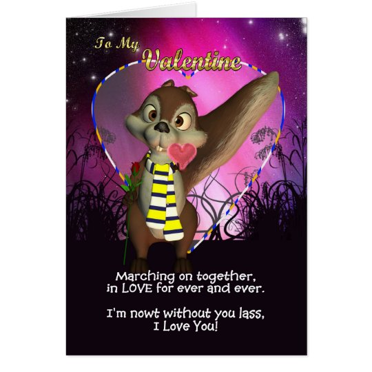 Leeds Footbally Fan Valentine's Day Card Cute
