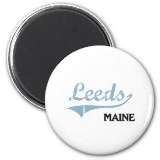 Leeds Maine City Classic Refrigerator Magnet