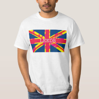 Leeds T-shirt with distorted British Flag