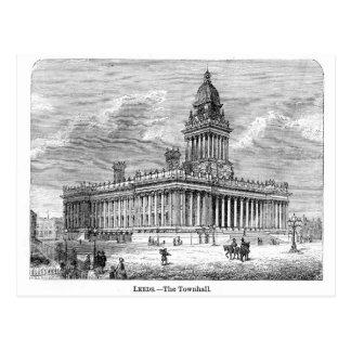Leeds Townhall Postcard