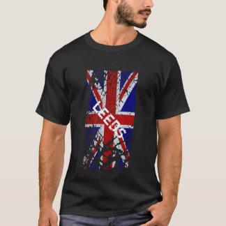 Leeds Vintage Peeling Paint Union Jack Flag T-Shirt