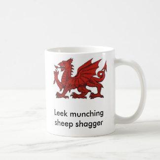 Leek munching sheep shagger basic white mug