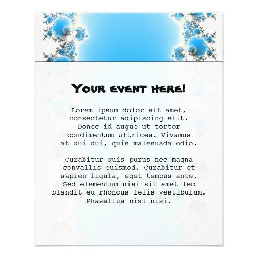 Leenece - Blue Fractal Personalized Flyer
