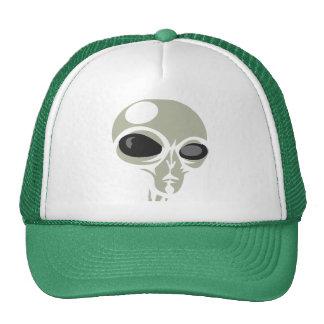 Leering eyes alien face customizable hat
