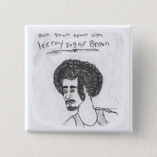 Leeroy Sugar Brown 15 Cm Square Badge