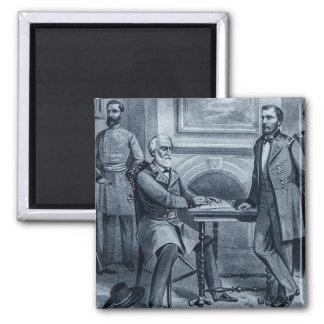 Lee's Surrender at Appomattox 1865 Vintage Square Magnet