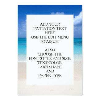 Leeward Beach   Turks and Caicos Photo 13 Cm X 18 Cm Invitation Card