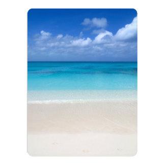 Leeward Beach   Turks and Caicos Photo 17 Cm X 22 Cm Invitation Card