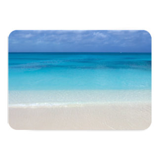 Leeward Beach   Turks and Caicos Photo 9 Cm X 13 Cm Invitation Card