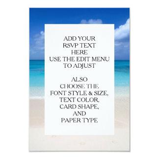 Leeward Beach | Turks and Caicos Photo Custom Invitation Cards